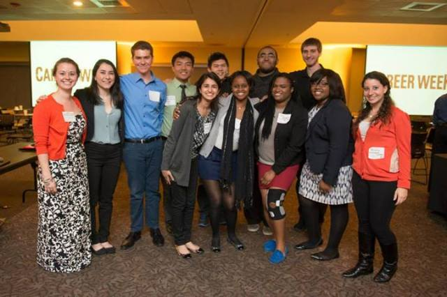 The Student Alumni Association hosted a great networking event! (photo via SAA)
